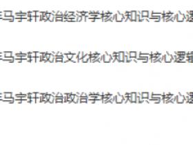 【2020】马宇轩政治全年联报